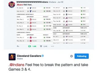 Cavs tell Indians to sweep Toronto