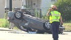 Officer, two civilians injured in crash in Akron