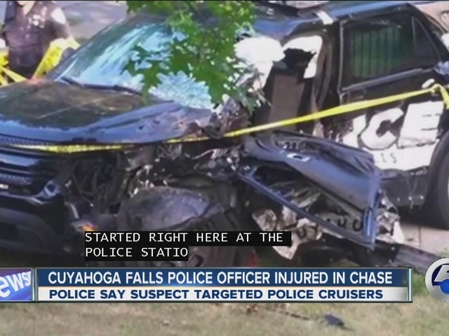 Cuyahoga Falls officer injured in chase