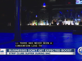 Strip clubs didn't see expected RNC boost