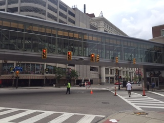 City truck damages walkway to Jack Casino