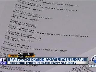 Man found shot in head at E. 9th & St. Clair