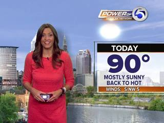 FORECAST: Hot returns to Northeast Ohio