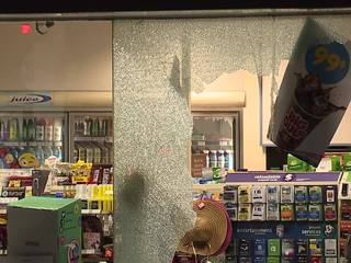 Brooklyn BP hit by smash and grab ATM theives