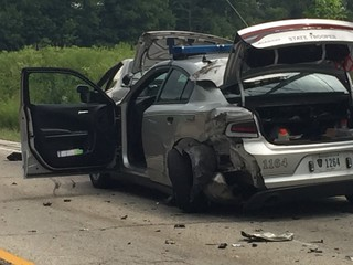 Trooper doing well after 3-car Geauga Co. crash