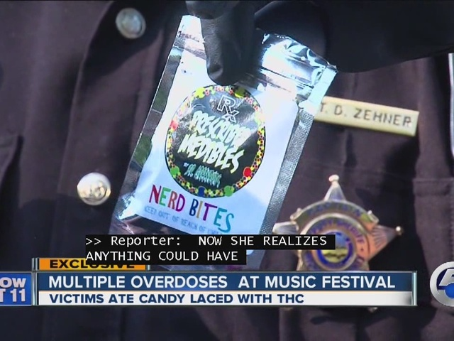 THC-laced candy sends festivalgoers to hospital