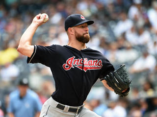 Tribe bounces back behind Kluber's strong outing