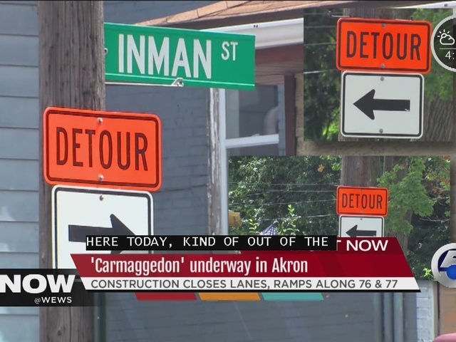 Carmageddon in Akron, construction means closed roads and unhappy