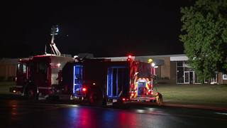 Fire inside Willoughby school overnight