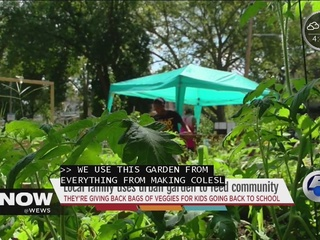 Local family uses urban garden to feed community