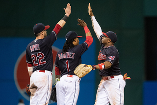 Indians tie club record with 8 steals vs. Angels