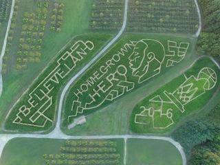 Local farm debuts 'Believeland!' corn maze