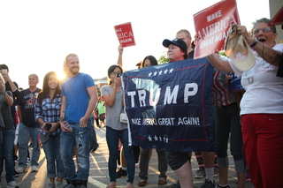 PHOTOS: Outside the Trump Rally