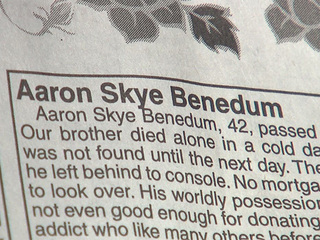 Grieving family writes powerful obit