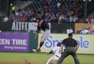 Indians trounced by Rangers in 9-0 loss