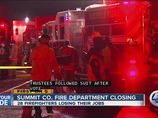 A Summit County fire department will shut down