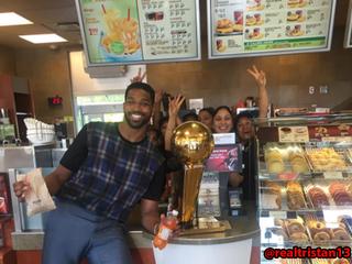 Tristan Thompson celebrates NBA title in Canada