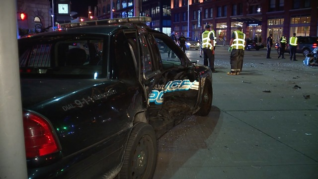 Officer involved in crash on East 9th and Euclid