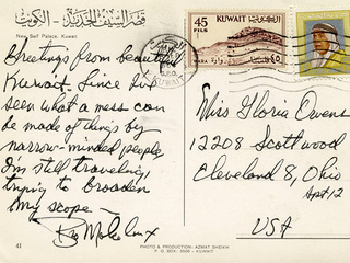 Malcolm X postcards to local woman sell for $56K