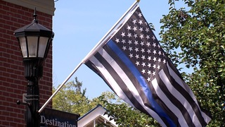 Thin Blue Line flags fly over Lodi