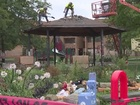 Crews dismantle gazebo where Tamir was shot