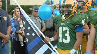Amherst supports son of fallen trooper