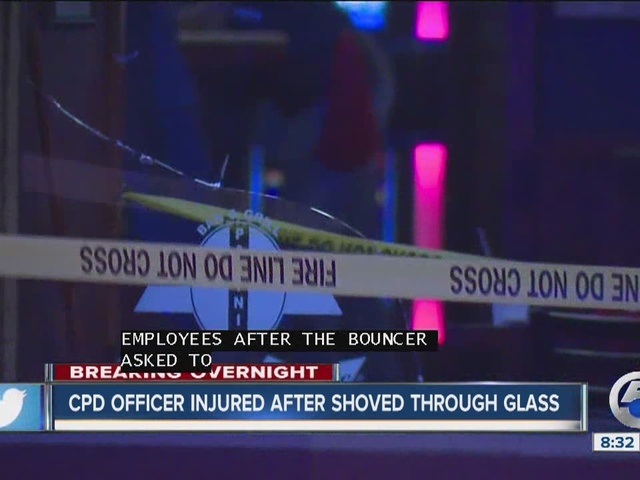CPD officer assaulted, shoved through window