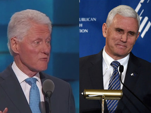 Bill Clinton, Mike Pence visit Ohio to campaign
