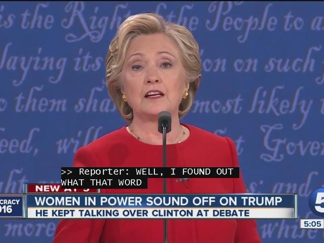 Women in power sound off on Trump