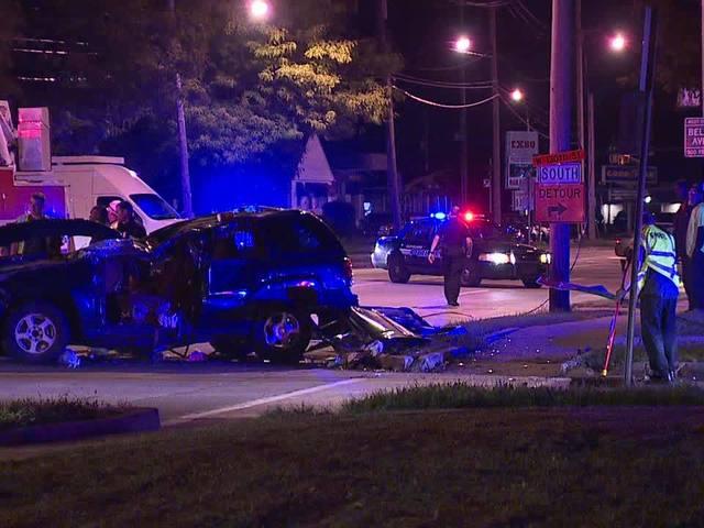 Three injured in West 117th crash