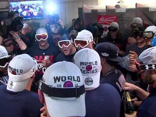 VIDEO: Indians celebrate ALCS win in locker room