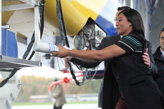 PHOTOS: Goodyear Airship Wing Foot 2 Christening