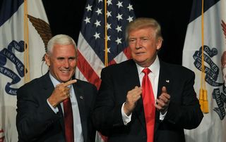 Trump and Pence rally in Cleveland on Saturday