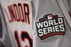 PHOTOS: World Series patches sewn on jerseys