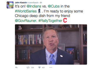 Kasich makes World Series bet with Illinois Gov.