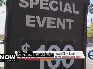 Parking hits $100 in Cleveland for World Series