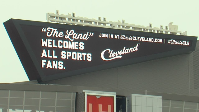 Cleveland's Ontario Street center of sports world Tuesday