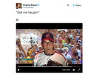 'Wild Thing' Charlie Sheen cheers on Indians