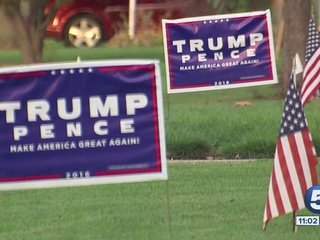 Thieves repeatedly steal Trump yard signs