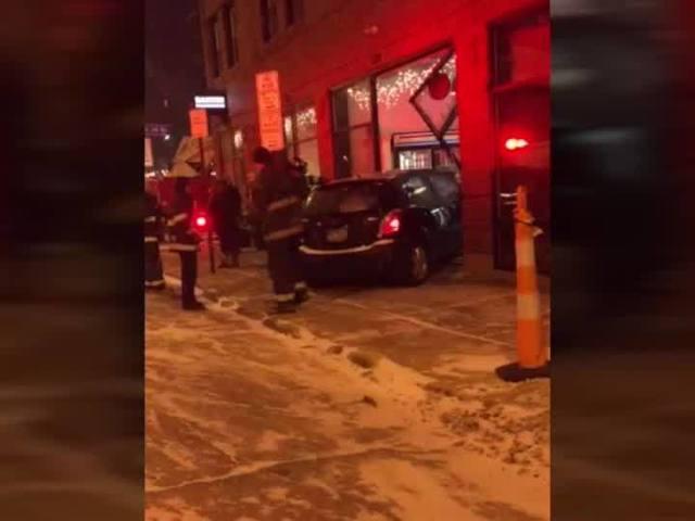 12-8 Car crashed into Banter restaurant