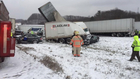 I-90 reopens 15 hours after massive crash
