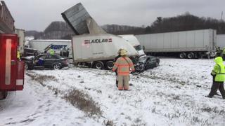 I-90 reopens 15 hours after massive crash