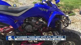 ATV, dirt bike sellers handed fake money