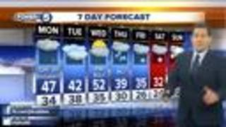 FORECAST: Off/on showers today, not as mild