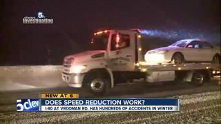 Is slower I-90 speed limit making road safer?