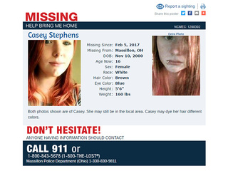 Police search for missing Massillon girl