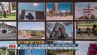 Politics on social media causes low productivity