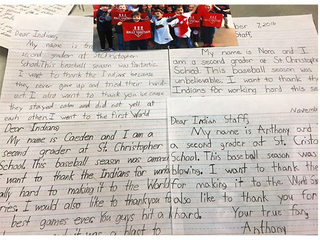 Second-graders surprise Indians with notes