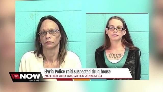 Mother and daughter arrested by Elyria Police during drug investigation