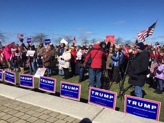 GALLERY: Trump supporters rally in Cleveland